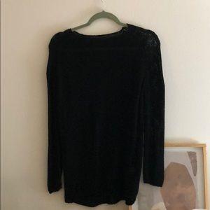 Black sweater, long